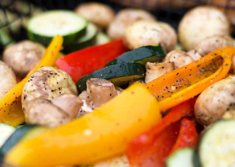 Рецепт овощей на гриле с шампиньонами