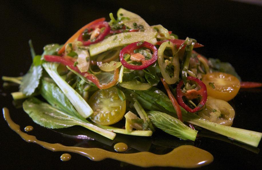 Салат с добавлением алоэ